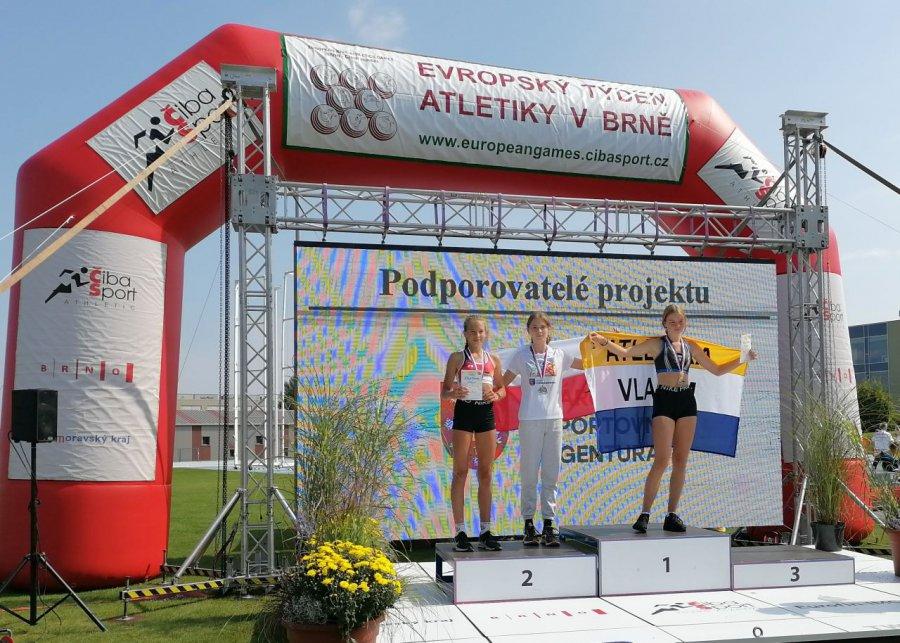 Lekkoatletka Victorii Trzebinia druga w Europejskich Igrzyskach Dzieci w Brnie