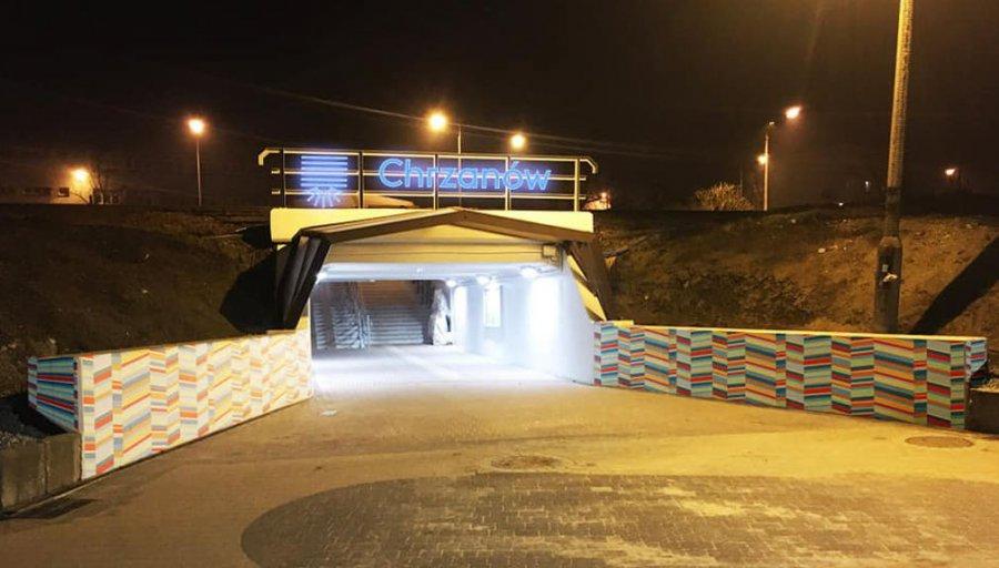 Neon świecący nad przejściem podziemnym w Chrzanowie. Podoba się Wam?